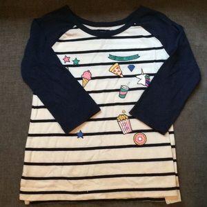 Girls emoji shirt size 6